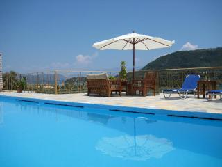Private stone villa with prvate swimming pool panoramic sea and bay views, bbq, near Nidri - Lefkas vacation rentals
