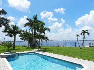 The Bayview - 3 Bedrooms, 2 Baths, Electric Heated Pool and Spa, Riverfront, Southern Exposure - Cape Coral vacation rentals