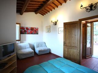 Quaint Tuscan farmhouse in Pescia, staffed property features private pool and jacuzzi, sleeps 3 - Pescia vacation rentals