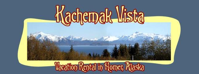 View from Deck - Kachemak Vista, In town, view of Kachemak Bay - Homer - rentals