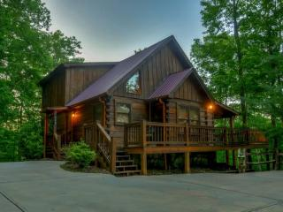 MOON SHADOW OVERLOOK* LUXURY 3 BEDROOM/3 BATHROOM~WIFI~HOT TUB~GAS GRILL~ FOOSBALL TABLE~FLAT SCREEN TV`S IN EACH BEDROOM~OUTDOO - Blue Ridge vacation rentals