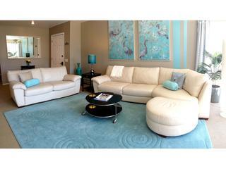 Living room with ivory leather sofas - Patio Place- Near Downtown SLC, Last Minute Deals! - Salt Lake City - rentals