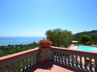 Private beach Villa with sea view pool and parking - Villammare vacation rentals
