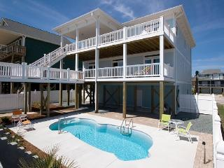 S. Shore Drive 1614 Oceanfront! | Private Pool, Hot Tub, Elevator, Jacuzzi, Internet, Fireplace - Surf City vacation rentals