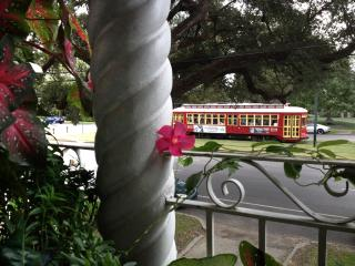 Tropical balcony on Canal Streetcar Line near FQ - New Orleans vacation rentals
