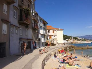 Apartment on the beach in town - SUN - Baska vacation rentals