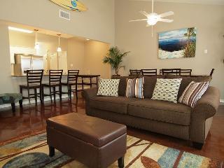 Enjoy the huge saltwater pool, kids' pool, spray fountains, playground & more - Corpus Christi vacation rentals