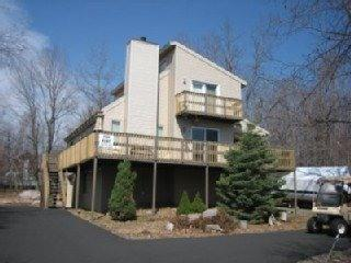 Front View of Home - Walk to the Lake or ski the slopes in 10 minutes - Albrightsville - rentals