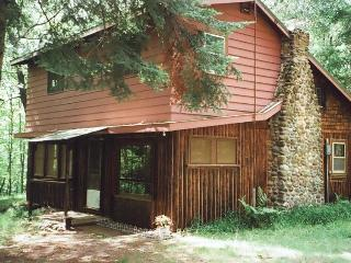 Original Log Cottage on 12 Wooded Lakeshore Acres - Iron River vacation rentals