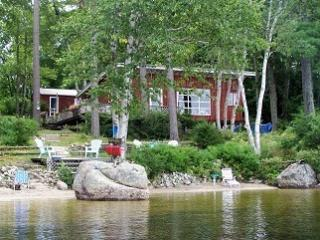 lakefront cottage with private sandy beach - Ellsworth vacation rentals