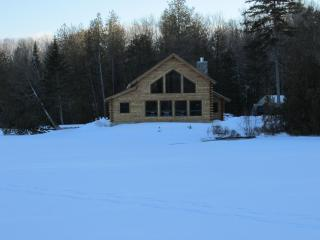 New Log Cabin Nestled Between 5 Mountains on Water - East Burke vacation rentals