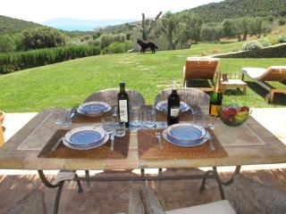 Farmhouse cottage situated in hilly Tuscan coutryside with sea view and private garden, sleeps 6 - Talamone vacation rentals