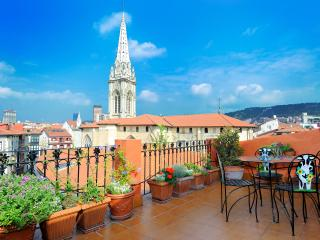Penthouse with lift and terrace (Cathedral) - Bilbao vacation rentals