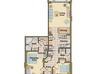Condo Layout - 2BR/2BA Ocean Villa near Disney Christmas Week - Cape Canaveral - rentals