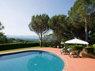 Nice villa in the Tuscany hills with large garden and private pool, sleeps 9 - Capolona vacation rentals