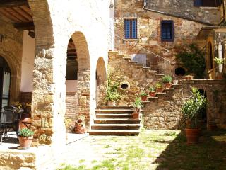 Rustic apartment in ancient Tuscan village with 2 bedrooms and shaded terrace - Colle di Val d'Elsa vacation rentals