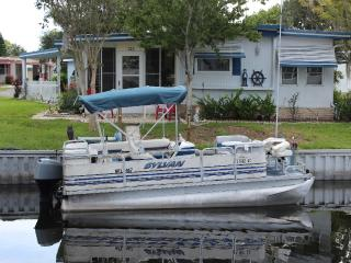 Waterfront Front Rental With Pontoon Boat, Dock and Golf Cart! - Ocklawaha vacation rentals