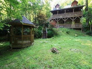 Andrea's Creek 2 well appointed log cabin, wooded setting, hot tub, sleeps 6 - Boone vacation rentals