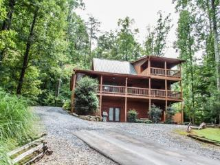 UP THE CREEK- 2BR/2BA, LUXURY LOG CABIN WITH STUNNING MOUNTAIN VIEWS, CREEK FRONTAGE, JETTED TUB IN MASTER SUITE, HOT TUB, PING PONG, FOOSEBALL, GAS LONG FIREPLACE, WIFI, $125/NIGHT! - Blue Ridge vacation rentals