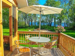 Beautiful Lakefront Cedar House in Victoria Beach, MB facing Elk Island - Traverse Bay vacation rentals