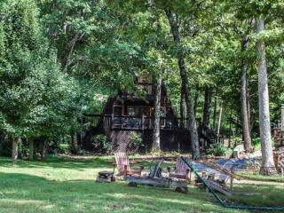 FISHERMAN COVE- 2BR/2BA- CABIN ON LAKE BLUE RIDGE SLEEPS 6, PRIVATE SWIM DOCK, CANOE WITH LIFE JACKETS, CHARCOAL GRILL, FIRE PIT, AND HAMMOCK! ONLY $195 A NIGHT! - Blue Ridge vacation rentals