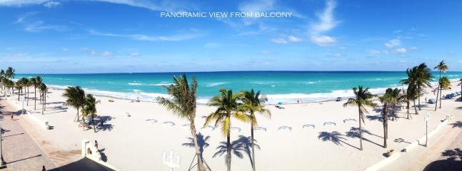 PANORAMIC VIEW FROM THE BALCONY - OCEAN VIEW FROM EVERY ROOM. FEW STEPS TO  BEACH. - Hollywood - rentals