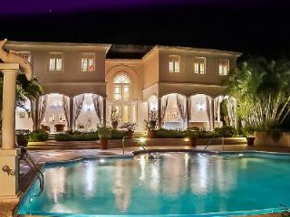 Bohemia - Elegant villa boasts stunning ocean views, marble floors, piano & 50 ft horizon pool - Saint James vacation rentals