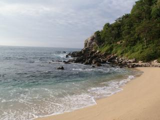 Beach front open pergola in front of virgin beach - Oaxaca State vacation rentals