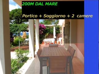 2 bedroom Tuscany holiday apartment rental with lovely garden and porch located just steps from the beach - Procchio vacation rentals