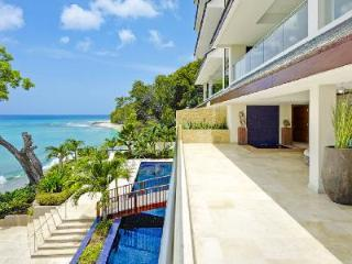 Spacious beachfront luxury home Portico #1 with pool, gym, sauna & private cook 10 min to town - Saint James vacation rentals