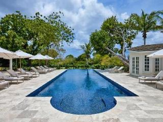 Elegant Casablanca boasts a view of renowned golf course with beach access & pool - Sandy Lane vacation rentals