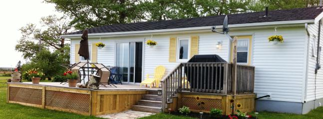 A gem in beautiful Greenwich, PEI with waterviews and near beach. This is front of cottage. - Luxury Cottage-Best Waterview, Near Beach and Golf - Prince Edward Island - rentals