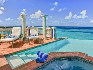 Waterfront Villa Azure with vanishing edge pool, six decks & steps to the sea - Shoal Bay Village vacation rentals
