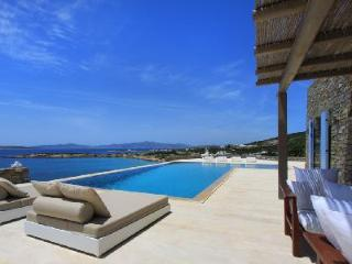 Bay-view Villa Agassi with cook, pool, verandas & access to secluded beach - Paros vacation rentals