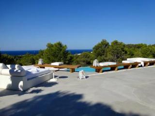 Modern Villa Tarida has large pool, gym, spa, great sea views & lots of privacy - San Jose vacation rentals