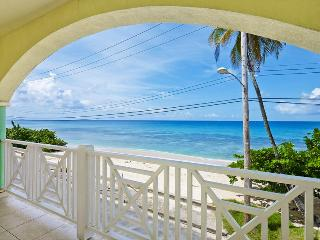 A wonderful opportunity to vacation in this beachfront duplex on the West Coast of the island with spacious living area and balc - Speightstown vacation rentals