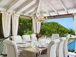 Attractive 4 bedroom villa, with an enticing infinity pool, swaying trees and Caribbean Sea beyond - Saint James vacation rentals