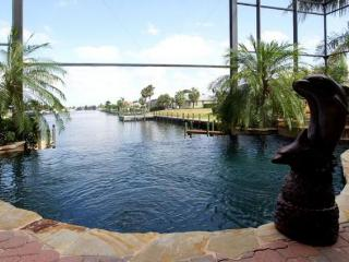 Brand new 3 bedroom 3 bathroom Cape Coral villa with a beautiful pool with wonderful views and easy access to the Golf - Pine Island vacation rentals