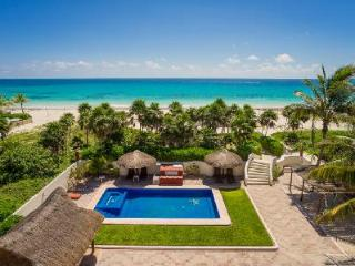 Sol Y Luna - Three story estate on beach with 15 ft by 45 ft pool & full service - Playa del Secreto vacation rentals