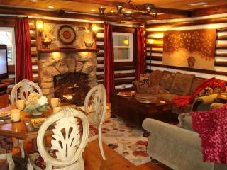 LOG CABIN, Hot Tub/FP/King & Q/Massage Chair/WiFi - Flat Rock vacation rentals