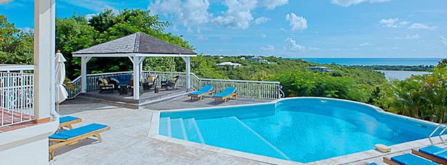 SPECIAL OFFER: St. Martin Villa 138 Panoramic Views From The Large Pool And Terrace Area And A Gazebo With Outdoor Living Area. - Image 1 - Terres Basses - rentals