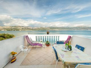 Beachfront apartment Neva with beautiful terrace - Arbanija vacation rentals