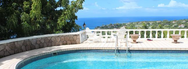 Pool and ocean view - Vista De Redonda, Isles Bay, Montserrat - Montserrat - rentals