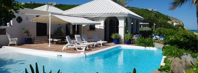 SPECIAL OFFER: St. Martin Villa 133 Spacious Beachfront, Hacienda-style Villa Directly On Bay Rouge. - Baie Rouge vacation rentals