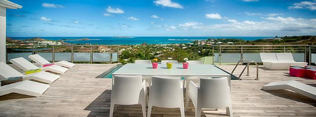 SPECIAL OFFER: St. Martin Villa 413 A Lovely Sun Deck And Plunge Pool With Modern Luminous Patio Furniture. Enjoy A Fabulous View Over Orient Bay Beach. - Orient Bay vacation rentals