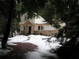 Snowline Cabin #34 - Great English Tudor-style home with private hot tub! - Glacier vacation rentals