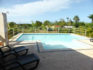 Hilltop Serenity model villa 2-bdrm/2-bath. The 11,000 gal pool has shallow sunbed ledge for lounging or ample pool deck. BBQ, Internet.(804) - Cabarete vacation rentals