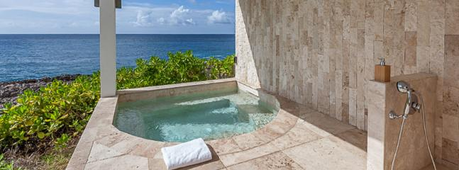 Villa Kishti AVAILABLE CHRISTMAS & NEW YEARS: Anguilla Villa 127 The Master Bedroom Suite Has Its Own Private Terrace, An Outdoor Shower, And An Individual Hot Tub, All Overlooking The Atlantic Waters. - Limestone Bay vacation rentals