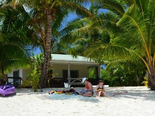 Jenny's Beach House - Absolute Beachfront - Titikaveka vacation rentals