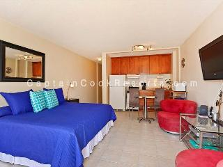 Studio with AC, WiFi, roof-top pool, Jacuzzi, parking. Close to beach. - Waikiki vacation rentals